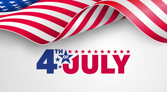 4th Of July Poster Templateusa Independence Day Celebration With American Flagusa 4th Of July Promotion Advertising Banner Template For Brochuresposter Or Bannervector Illustration Eps 10 Stock Illustration - Download Image Now