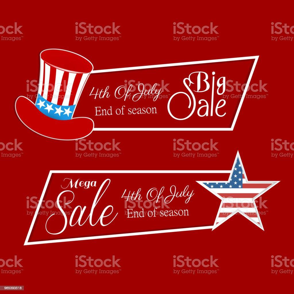 4th of July Sale 4th of july sale - stockowe grafiki wektorowe i więcej obrazów czerwony royalty-free