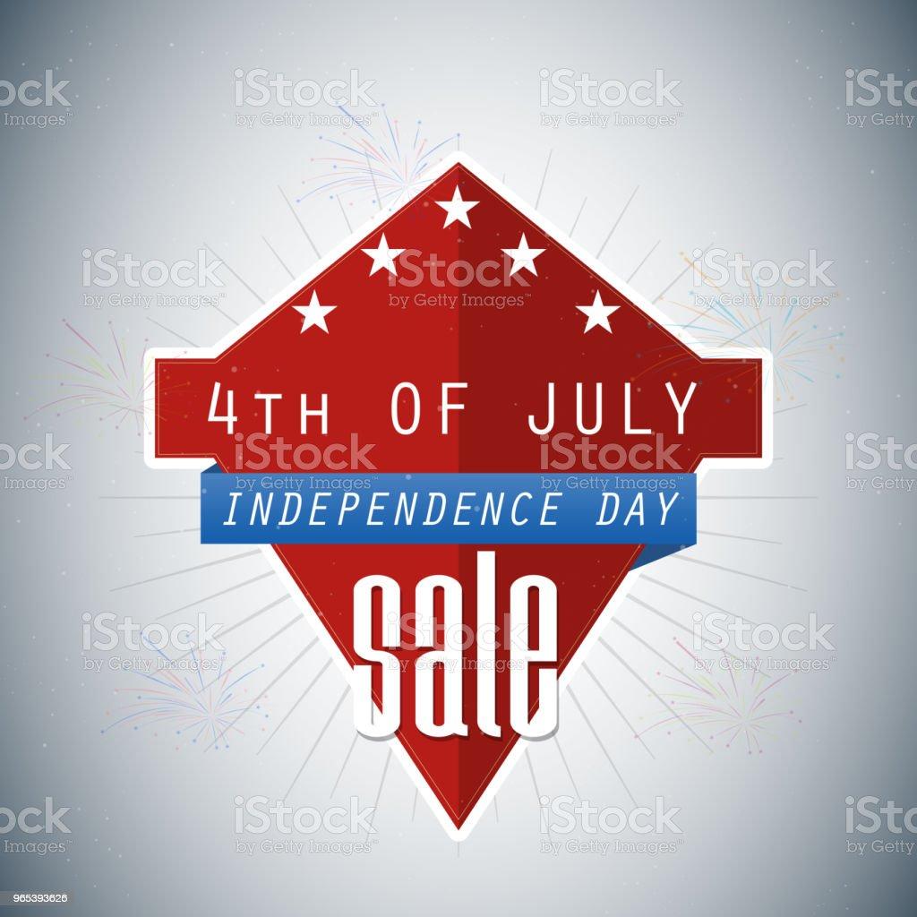 4. Juli-Verkauf - Lizenzfrei 4. Juli Vektorgrafik