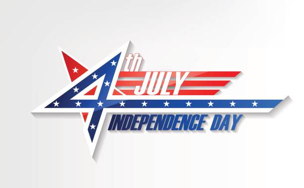 4th of July, United Stated independence day, design badge, vector vector art illustration