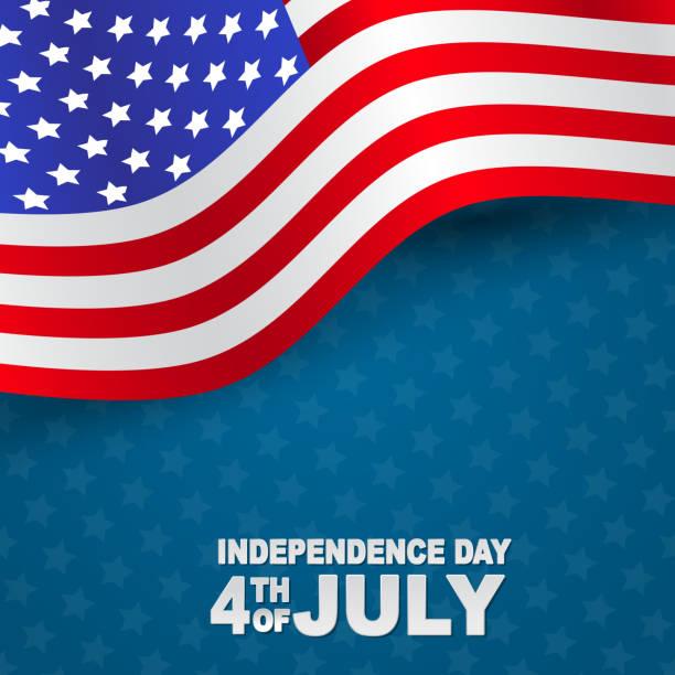4 temmuz abd ulusal bağımsızlık günü kutlama arka plan amerikan bayrağı ile. vektör illustration. - family 4th of july stock illustrations