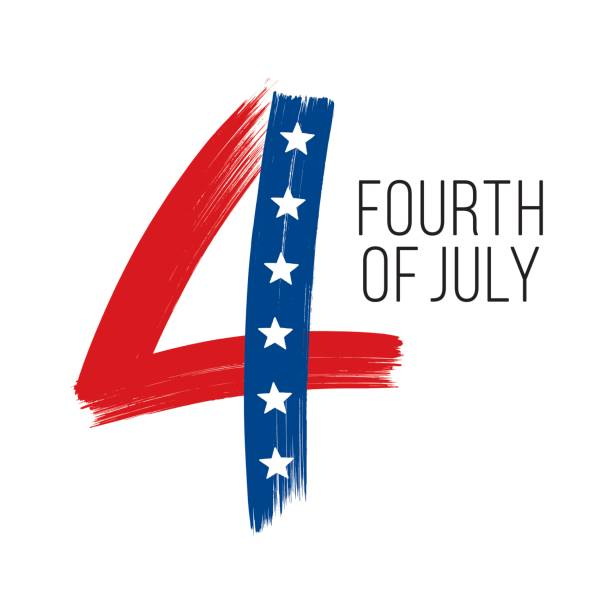 4th of july vector art illustration