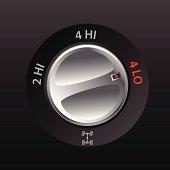 4x2 to 4x4 transmission knob