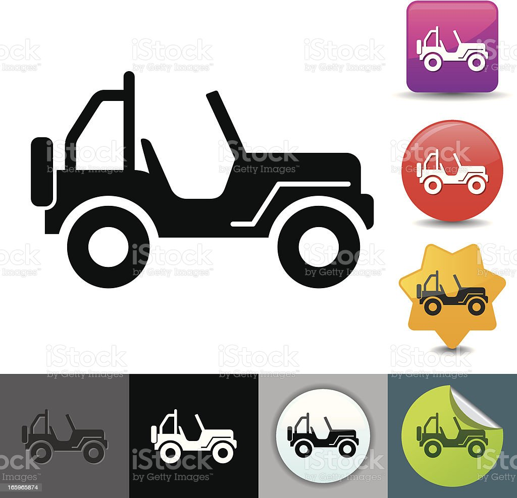 4x4 icon | solicosi series vector art illustration
