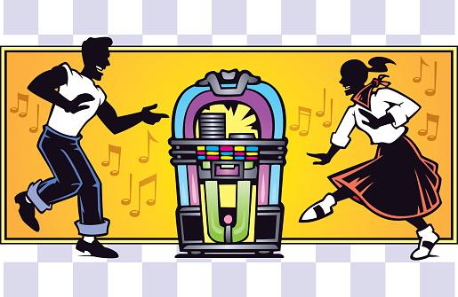 50s Dance Guy & Girl