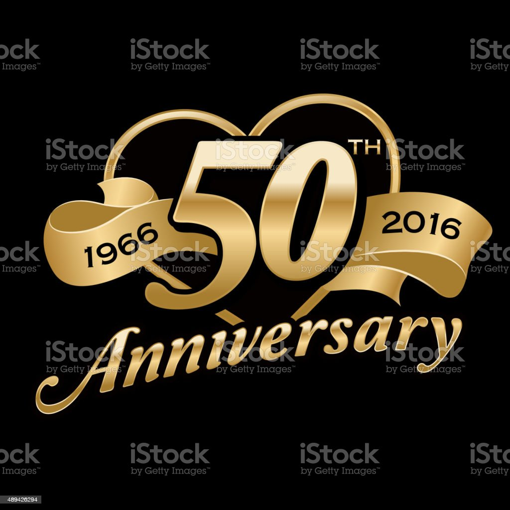 50th Anniversary Birthday vector art illustration