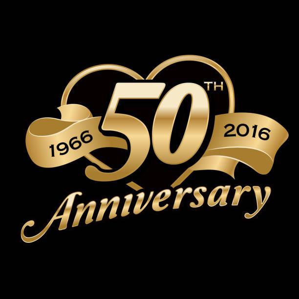50 º aniversário de aniversário - ilustração de arte em vetor