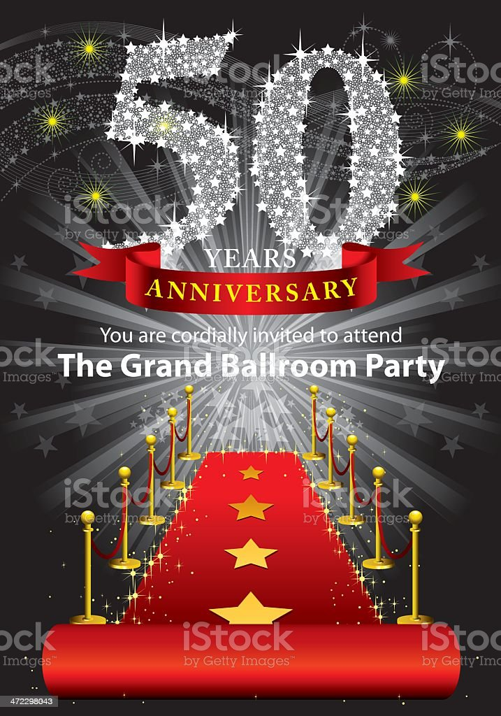 50th Anniversary Party royalty-free 50th anniversary party stock vector art & more images of 50-54 years