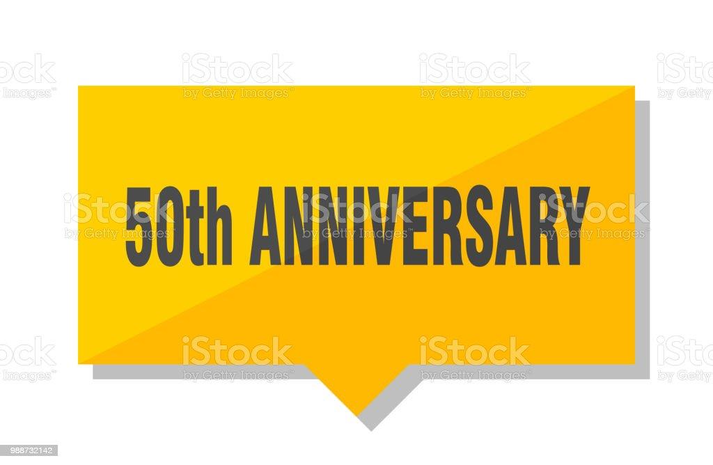50th anniversary price tag vector art illustration
