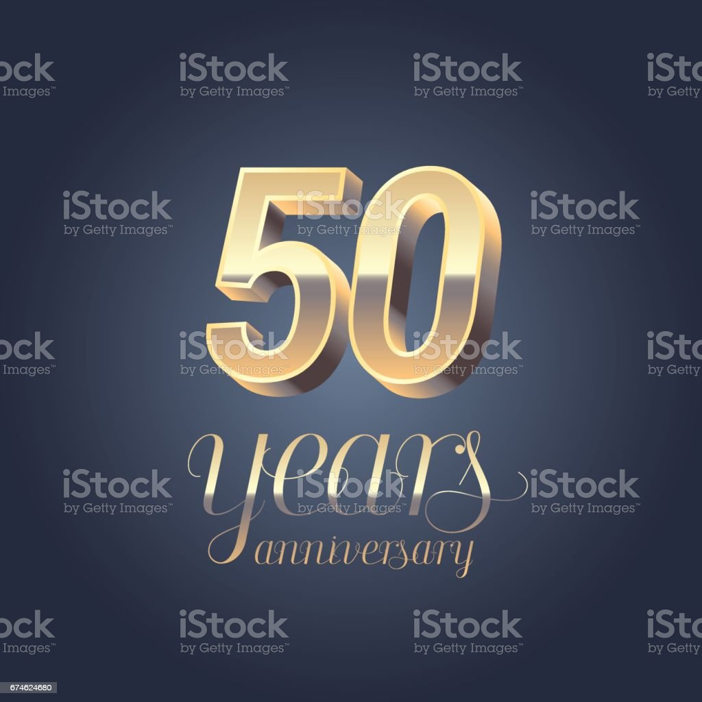 50th anniversary vector icon vector art illustration