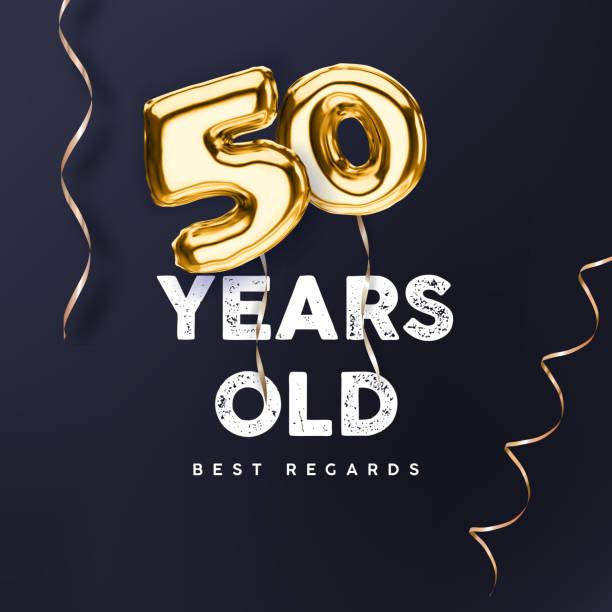 50th anniversary vector illustration for happy birthday congratulations vector art illustration