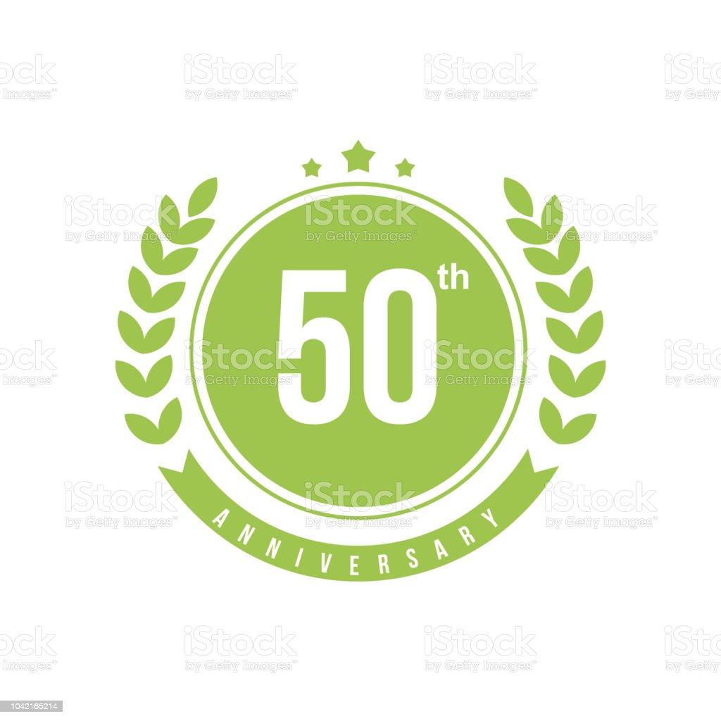 50th Anniversary Vector Template Design Illustration vector art illustration