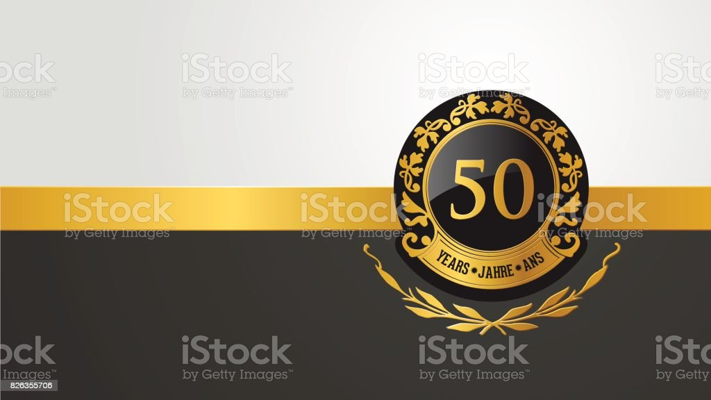 50th birthday or anniversary pictogramm vector art illustration