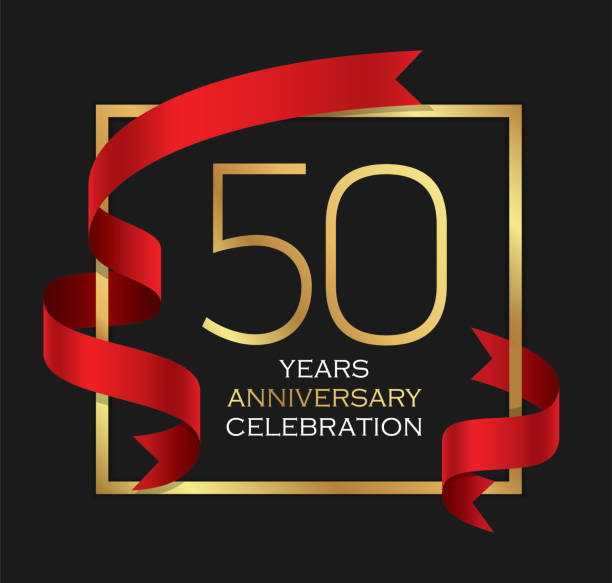 50th years anniversary celebration background vector art illustration