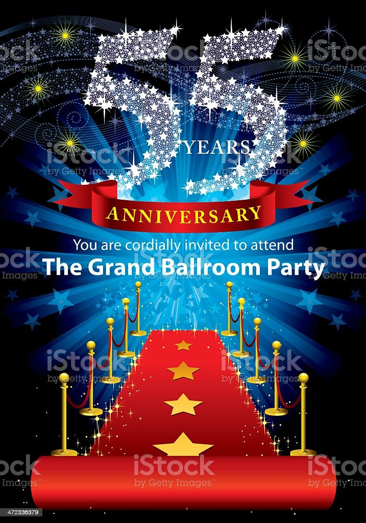 55th Anniversary Party royalty-free stock vector art