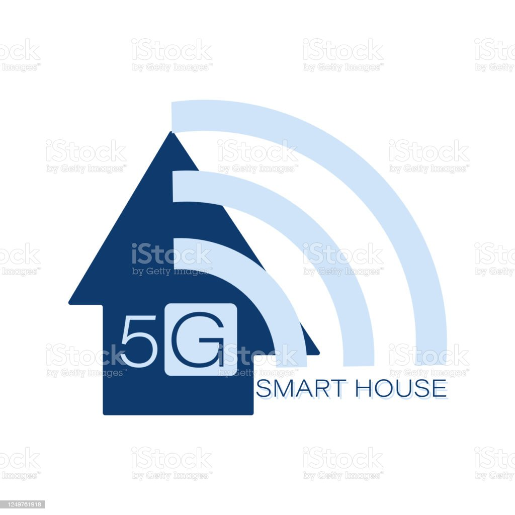 5g Smart House Logo Vector Web Icon For Use In Infographics Smart Home Concept Icon Emblem Sign Wifi Stock Illustration Download Image Now Istock