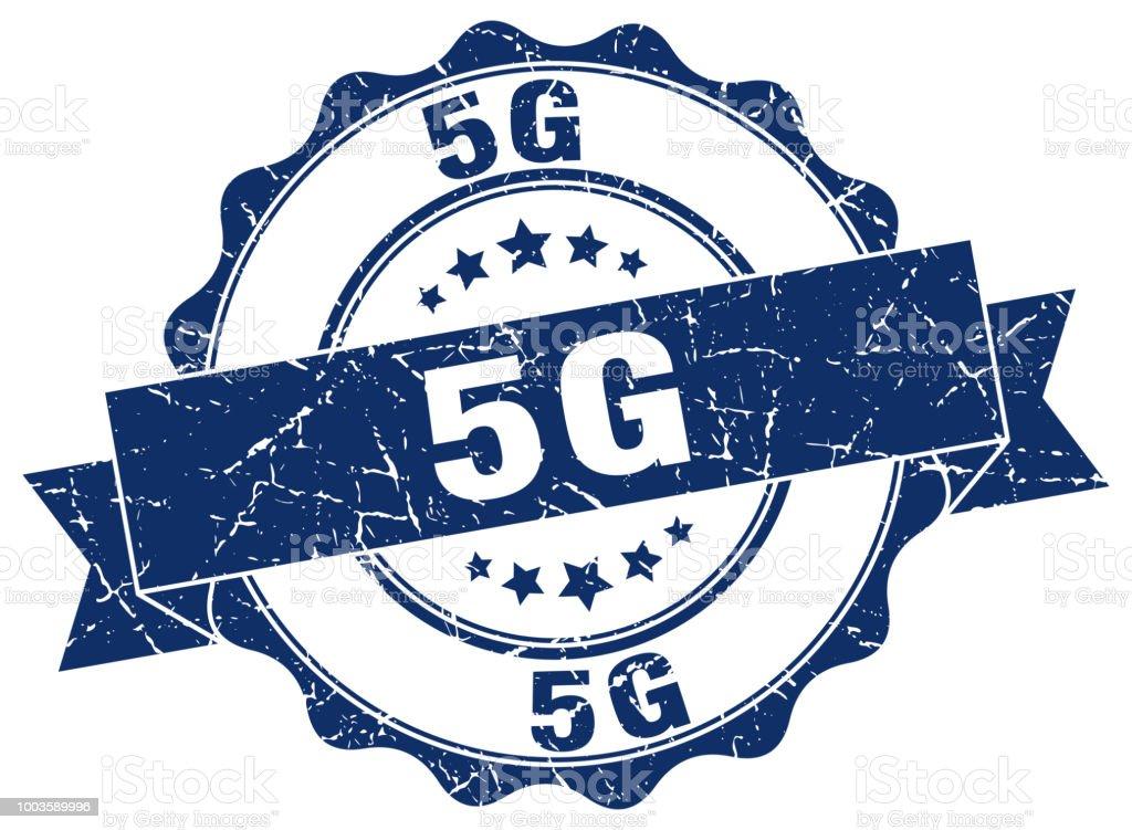 5g stamp. sign. seal vector art illustration