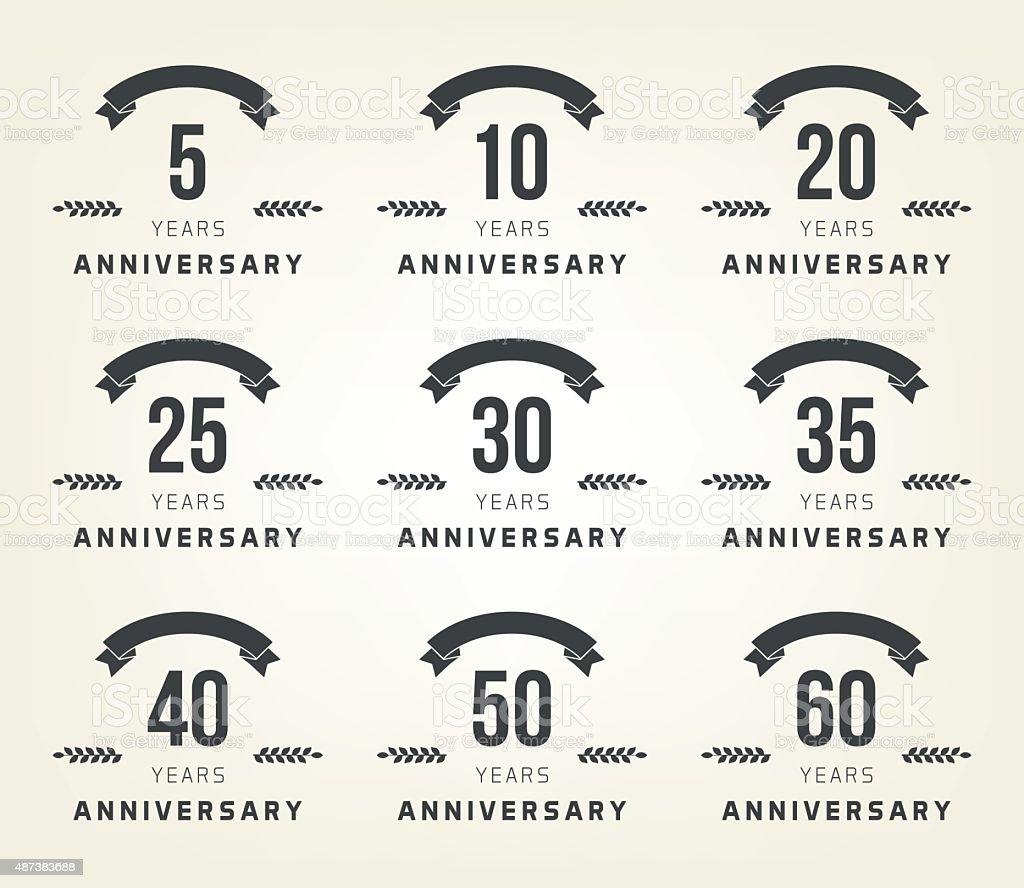 5th 10th 20th 30th 40th 50th 60th anniversary logo stock vector 5th 10th 20th 30th 40th 50th 60th anniversary logo biocorpaavc Choice Image