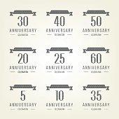 5th, 10th, 20th, 30th, 40th, 50th, 60th anniversary logo.