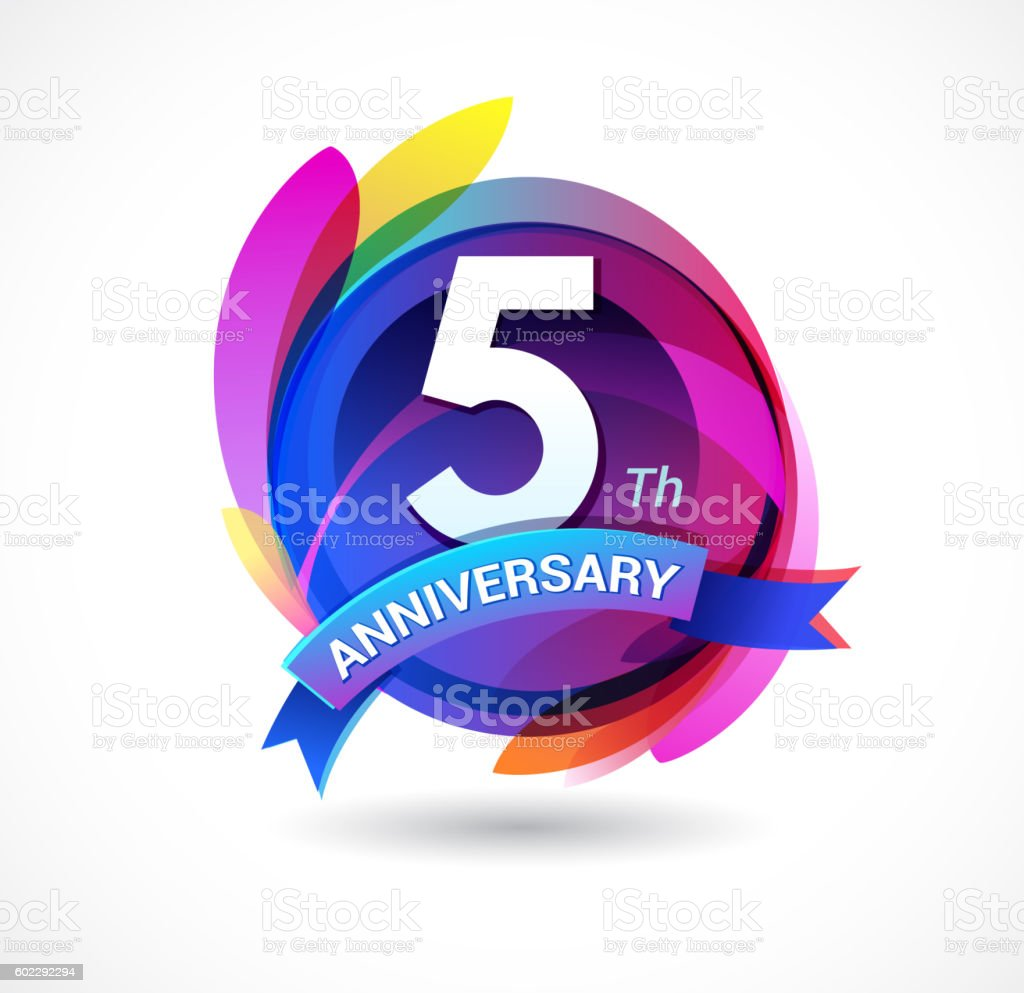 5th anniversary abstract background with icons and elements stock 5th anniversary abstract background with icons and elements royalty free 5th anniversary abstract background biocorpaavc Choice Image