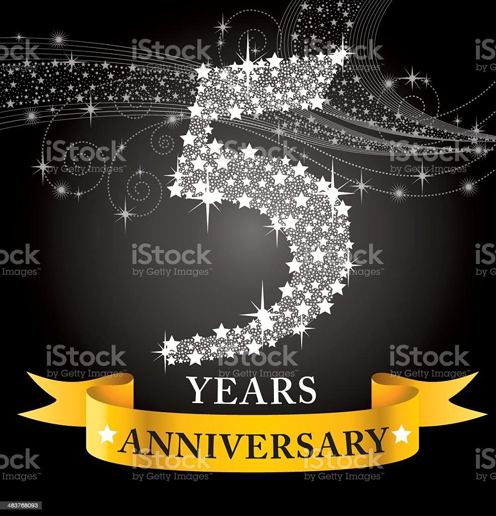 5th Anniversary royalty-free stock vector art