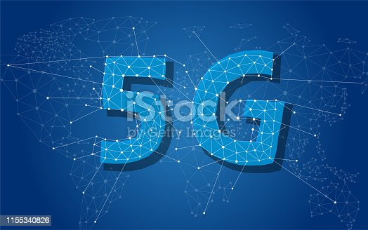 5G 5th generation mobile network wireless Systems in the world.  Wireless Technologies and Mobile Networks