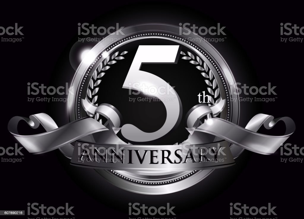 5th anniversary vector ~ Th silver anniversary logo stock vector art more images of