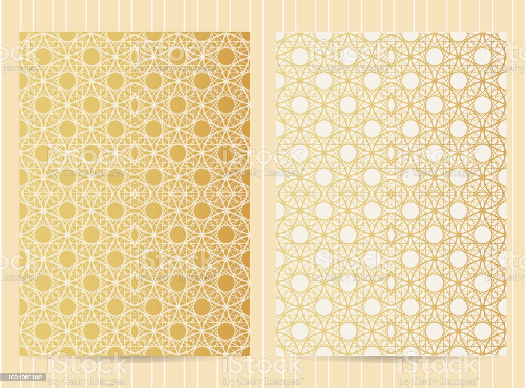 5x7 Inch Size Cards In Golden Color Vector Luxury Templates