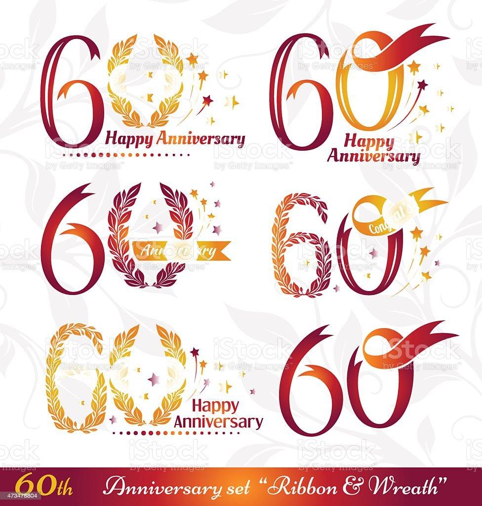 Logo del 60simo anniversario - illustrazione arte vettoriale