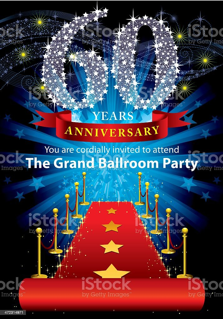 60th Anniversary Party royalty-free stock vector art