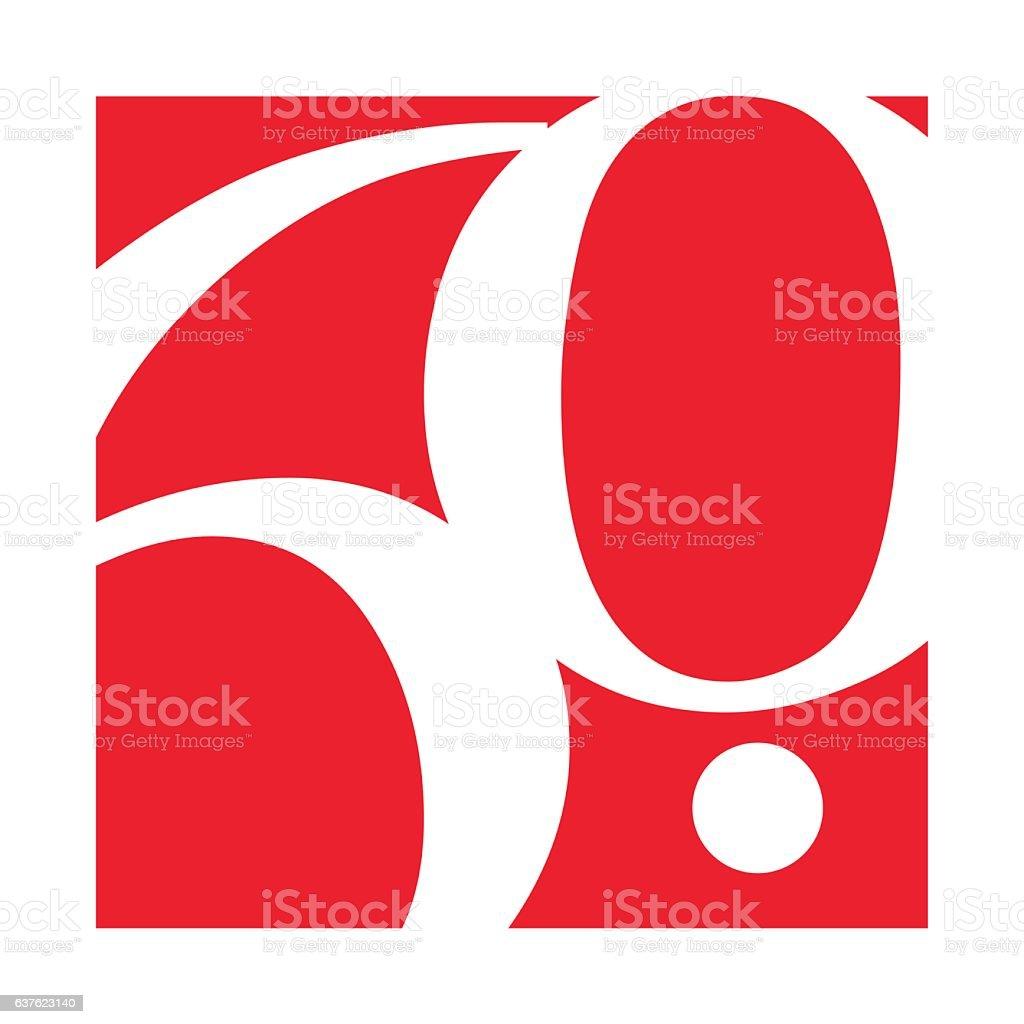 60th Anniversary Template design - illustrazione arte vettoriale