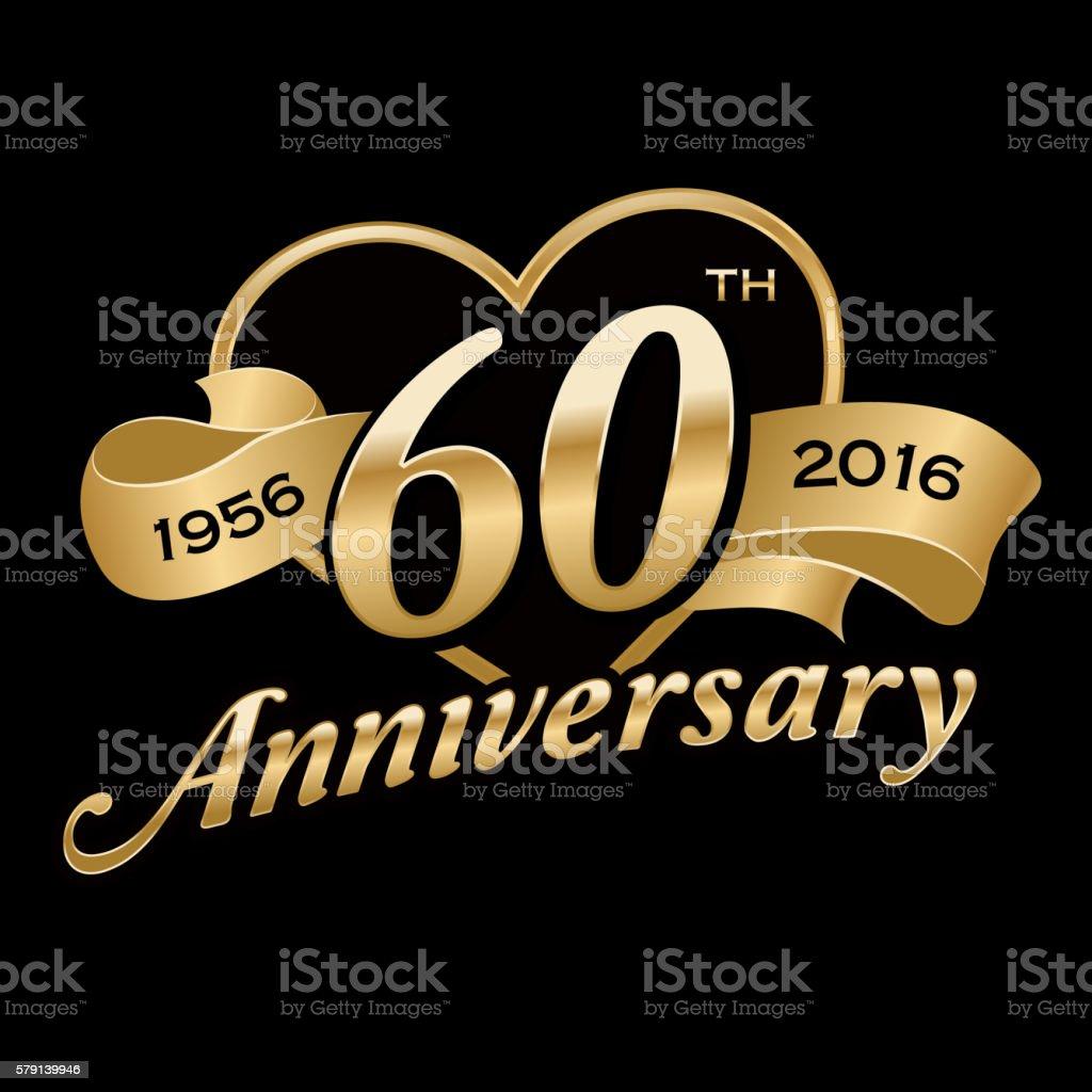 60th Anniversary - illustrazione arte vettoriale