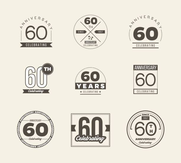 Royalty Free 60th Anniversary Clip Art Vector Images