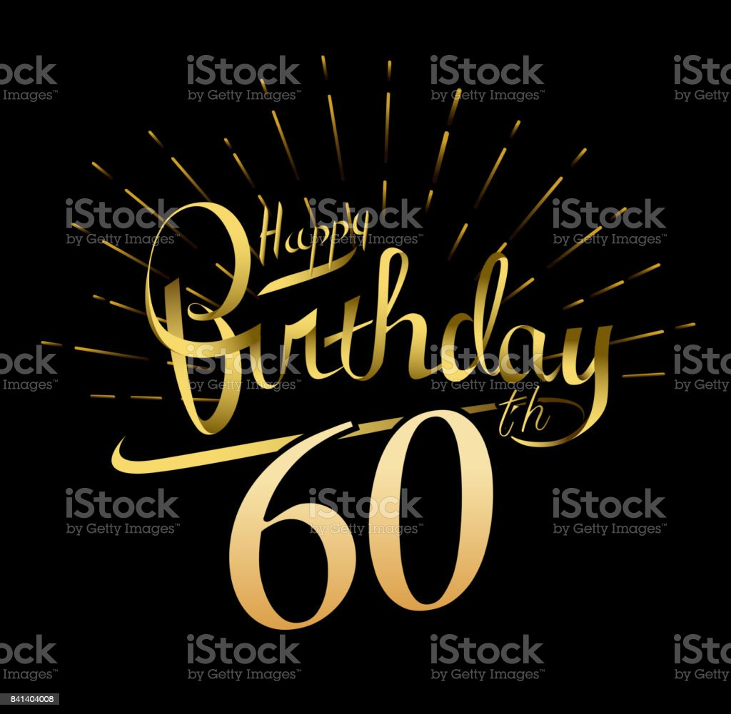 60th Happy Birthday Design Beautiful Greeting Card Poster With
