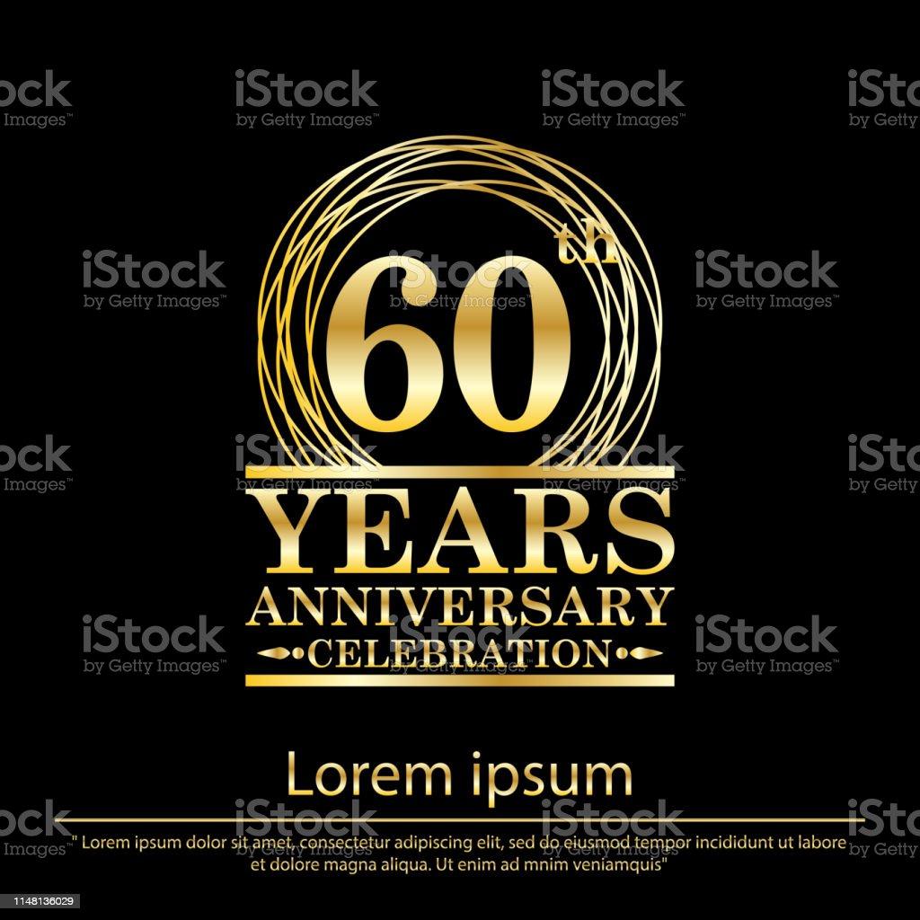 Ilustración De Celebración De 60 Años De Aniversario