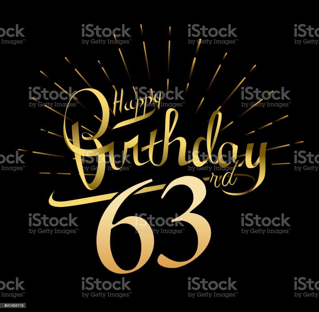 63 Geburtstag Entwerfen Schöne Grußkarte Poster Mit