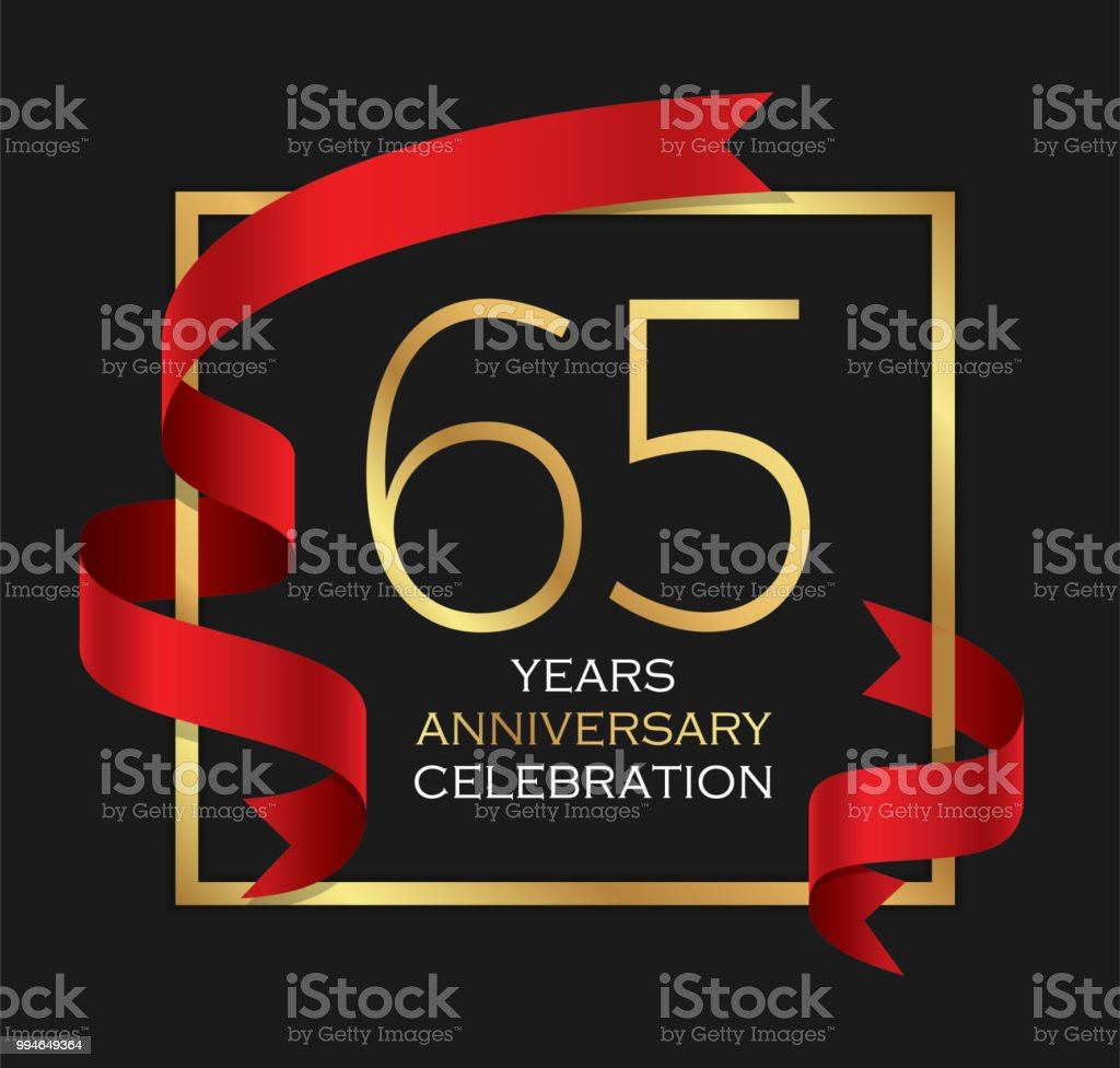 65th years anniversary celebration background vector art illustration