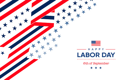 6th of september labor day greeting card