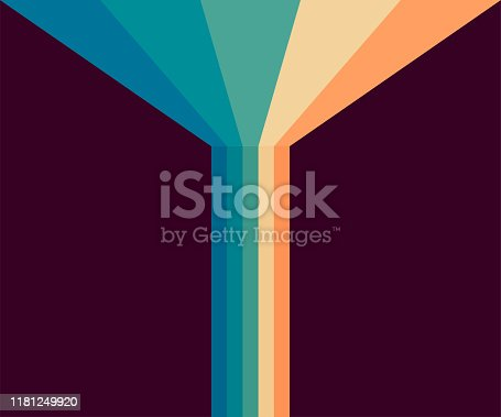 70s, 1970 abstract vector stock retro lines background. Vector stock illustration.