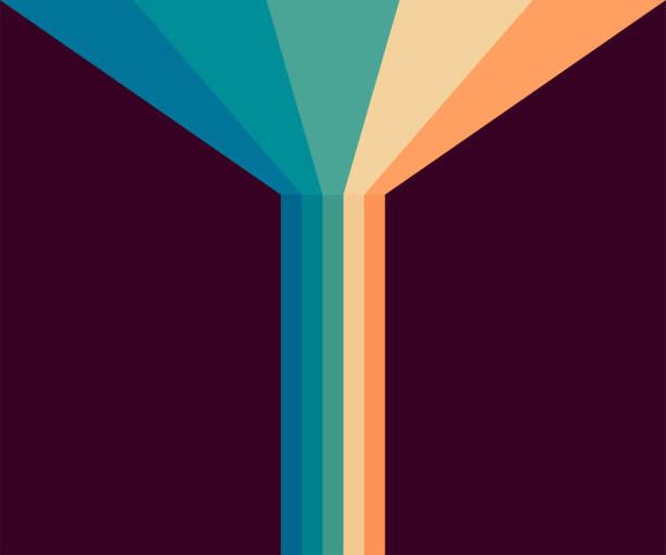 stockillustraties, clipart, cartoons en iconen met 70s, 1970 abstracte vector voorraad retro lijnen achtergrond. vector illustratie. - seventies