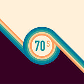 istock 70s, 1970 abstract vector stock retro lines background. Vector illustration. 1218618231