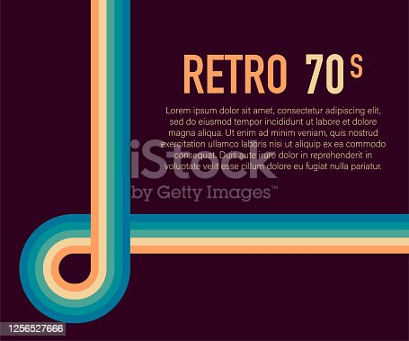 istock 70s, 1970 abstract vector stock retro lines background. Vector illustration. 1256527666