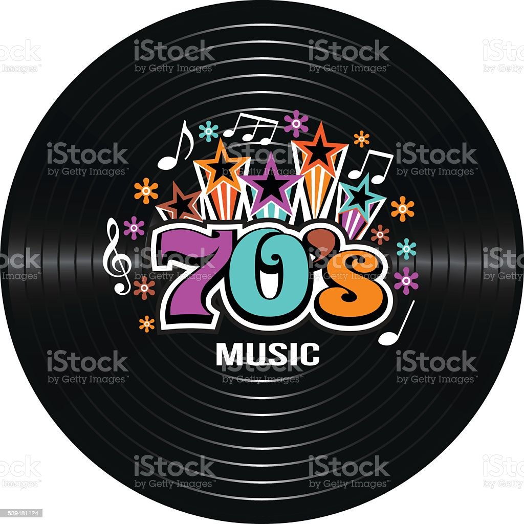 70s Music discography. Vector Illustration vector art illustration