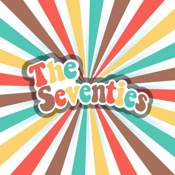 stockillustraties, clipart, cartoons en iconen met 70s vector disco kunst. vector banner achtergrond - seventies