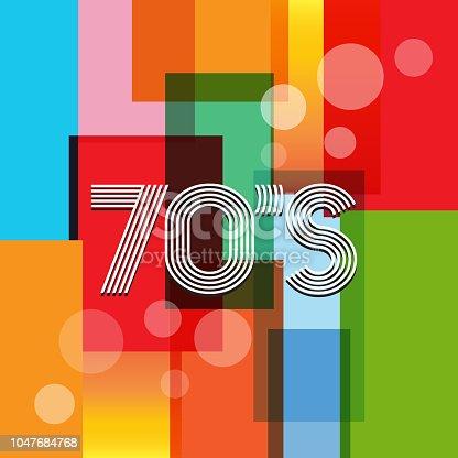 70s Vector Retro Art Background. Old School Banner