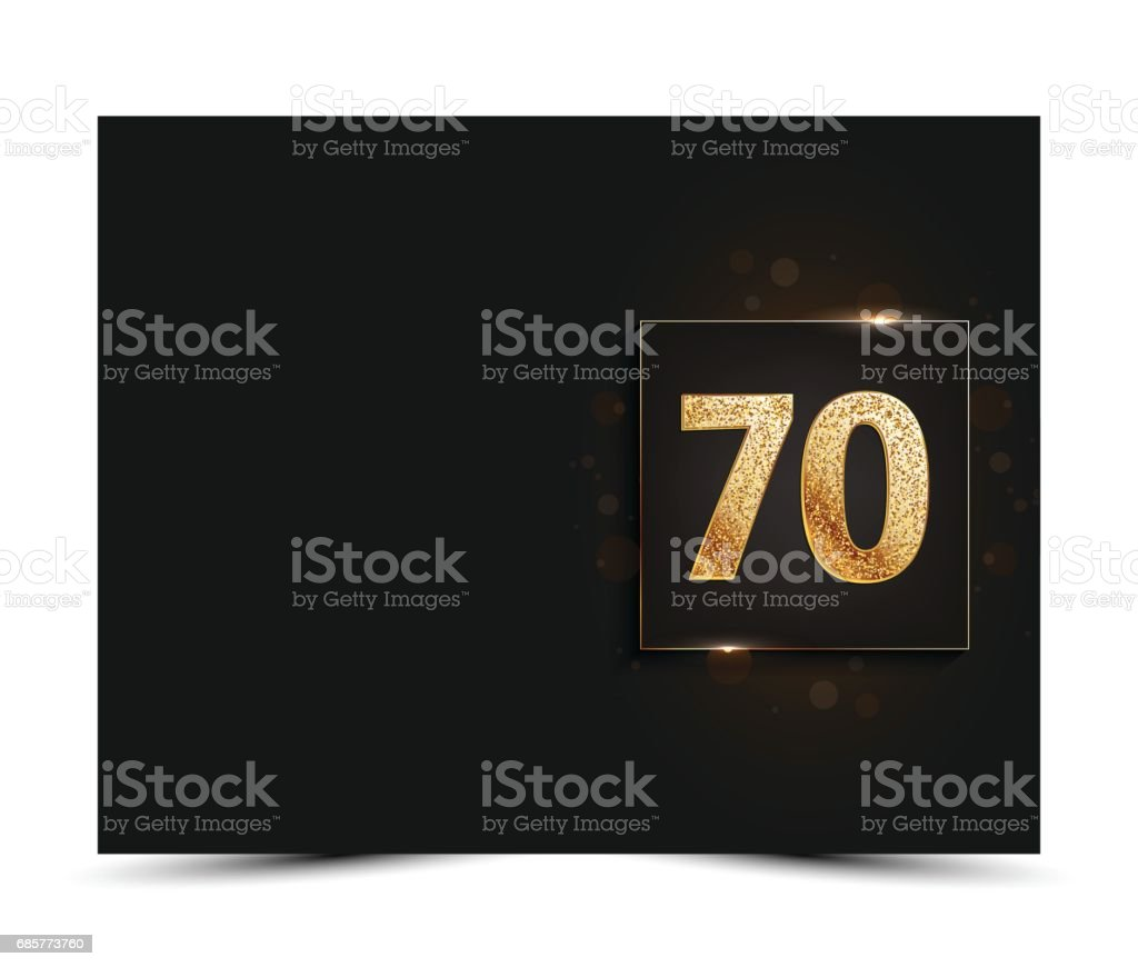 70th anniversary decorated invitation / greeting card template. royalty-free 70th anniversary decorated invitation greeting card template stock vector art & more images of 70th anniversary