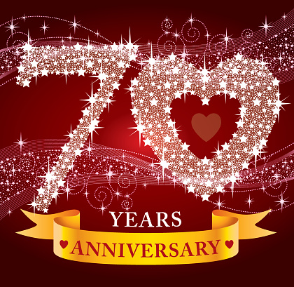 Download 70th Anniversary Stock Illustration - Download Image Now ...