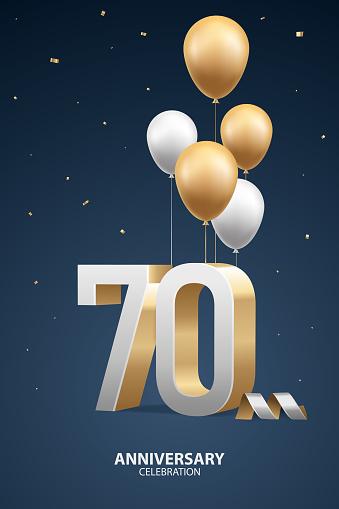 70th Year Anniversary Background