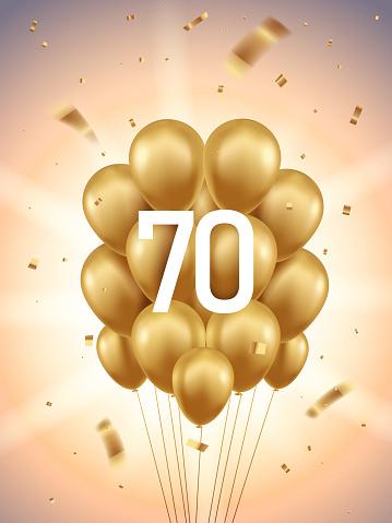 70th Year anniversary celebration background