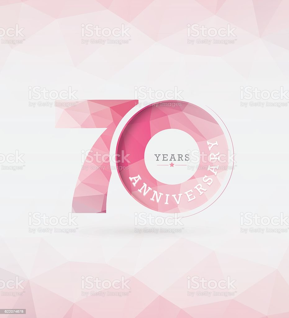 70th Years Anniversary Template vector art illustration